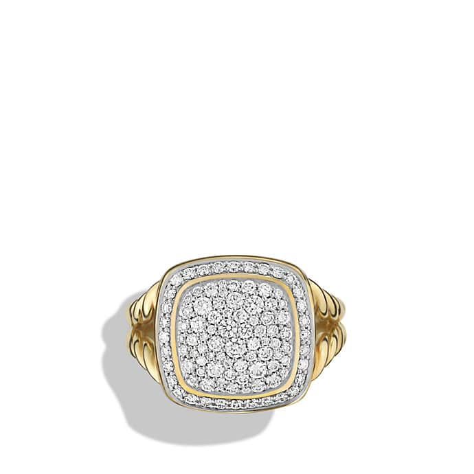 albion ring with diamonds in 18k gold 11mm