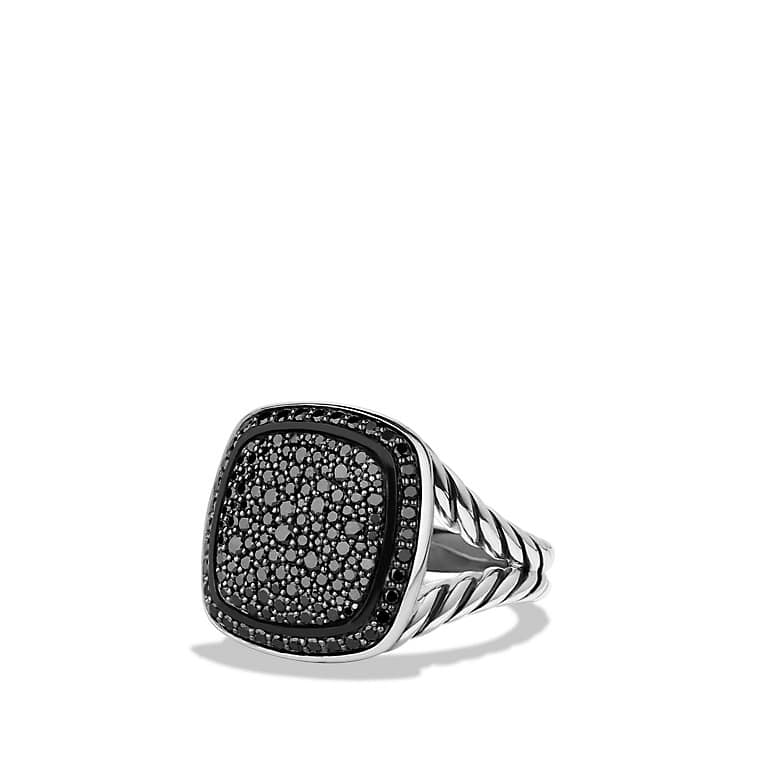 albion ring with black diamonds 14mm