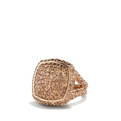 Ring with Cognac Diamonds in 18K Rose Gold