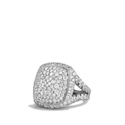 Ring with Diamonds in 18K White Gold