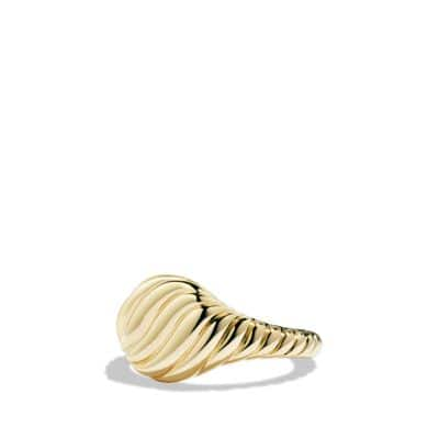 Sculpted Cable Mini Pinky Ring in 18K Gold