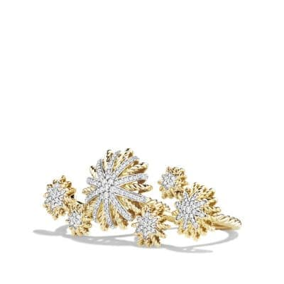 Starburst Double Ring in 18K Gold