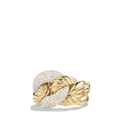 Belmont Ring with Diamonds in 18K Gold