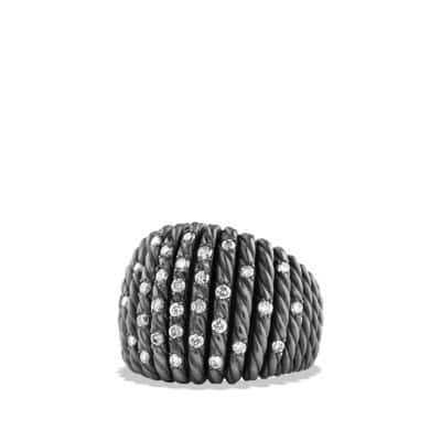 Tempo Ring with Diamonds