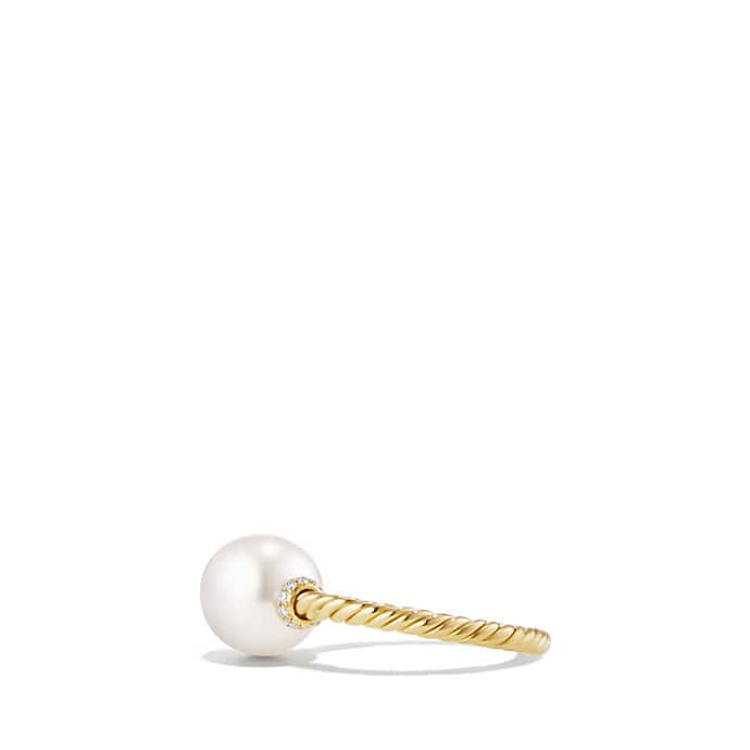 Solari Station Ring with Pearls and Diamonds in 18K Gold