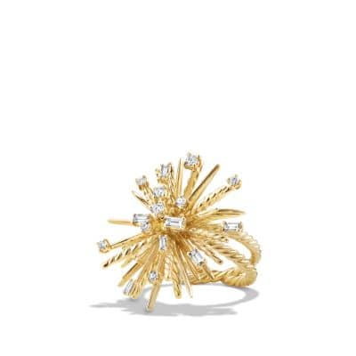 Supernova Ring with Diamonds in 18K Gold