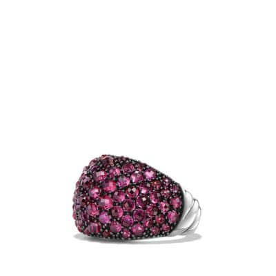 Osetra Dome Ring with Rhodalite Garnet