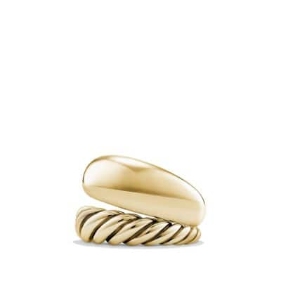 Pure Form Two Row Ring in 18K Gold, 17mm