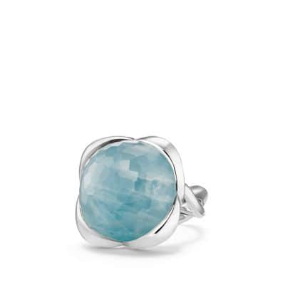Continuance® Ring with Milky Aquamarine, 20mm