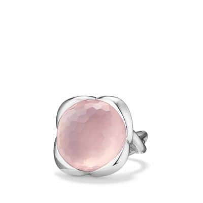 Continuance Ring with Rose Quartz, 20mm