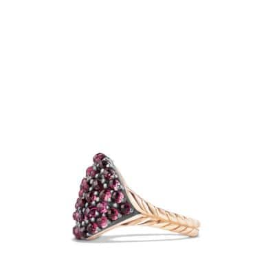 Osetra Pinky Ring with Rhodalite Garnet and 18K Rose Gold