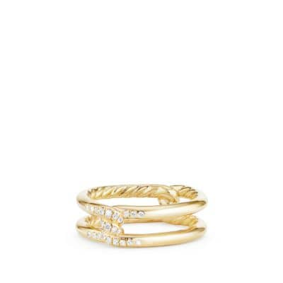 Continuance® Band Ring with Diamonds in 18K Gold, 6.5mm