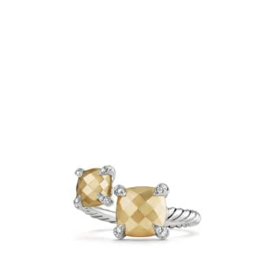 Chatelaine® Bypass Ring with 18K Gold and Diamonds