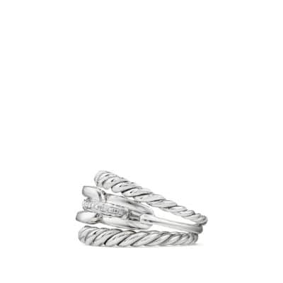 Wellesley Link™ Three-Row Ring with Diamonds