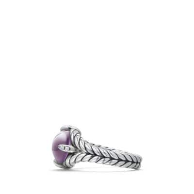 Chatelaine® Single Stone Ring with Amethyst and Diamonds