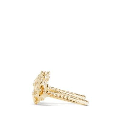 Starburst Constellation Two Finger Ring in 18K Gold with Diamonds