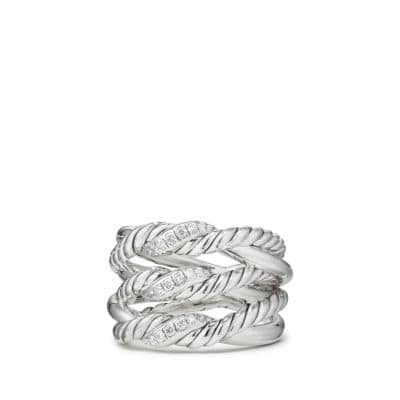 Continuance® Three-Row Ring with Diamonds