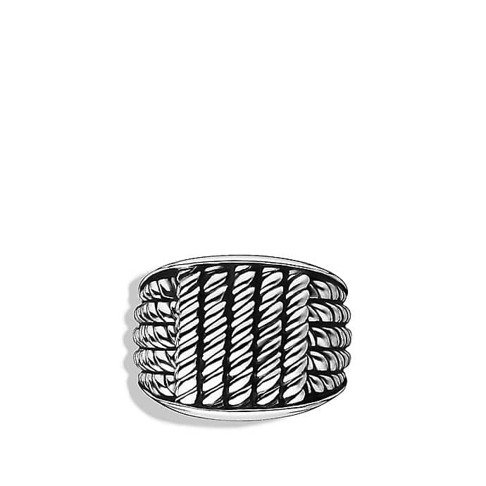 Maritime Rope Wide Three-Sided Ring