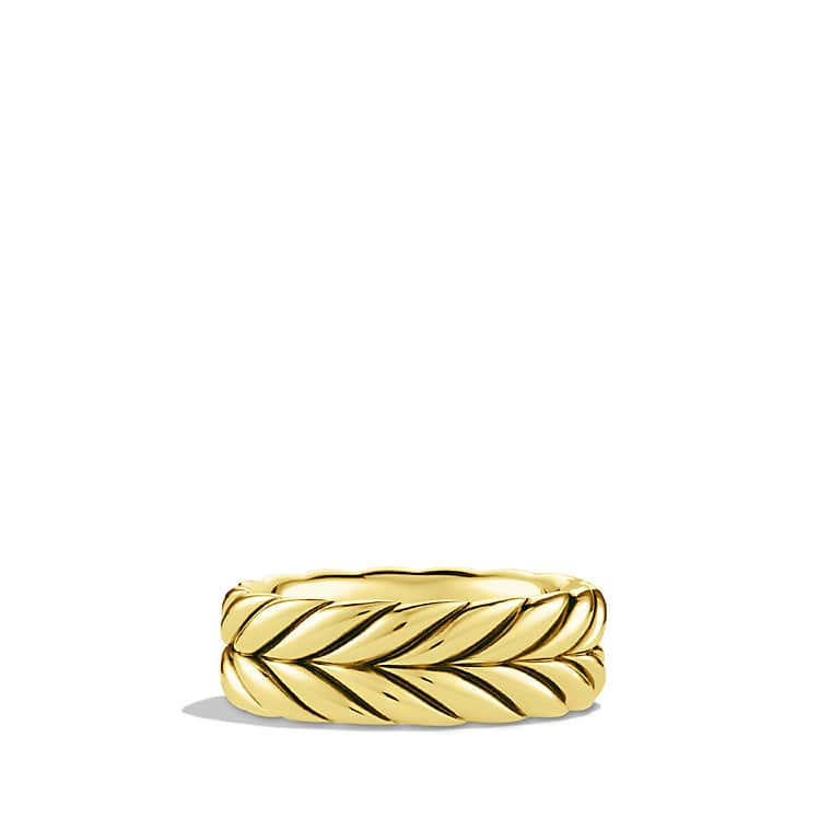 Chevron Band Ring in Gold