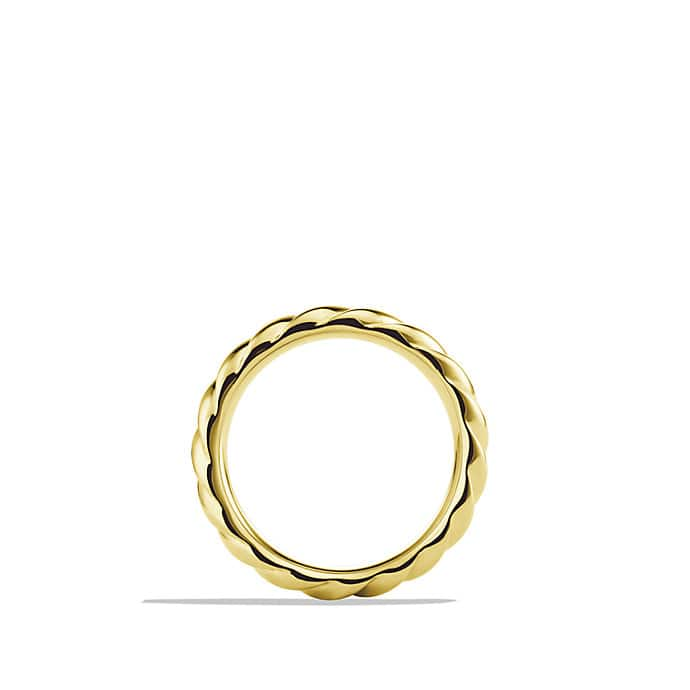 Cable Classics Narrow Band Ring in Gold