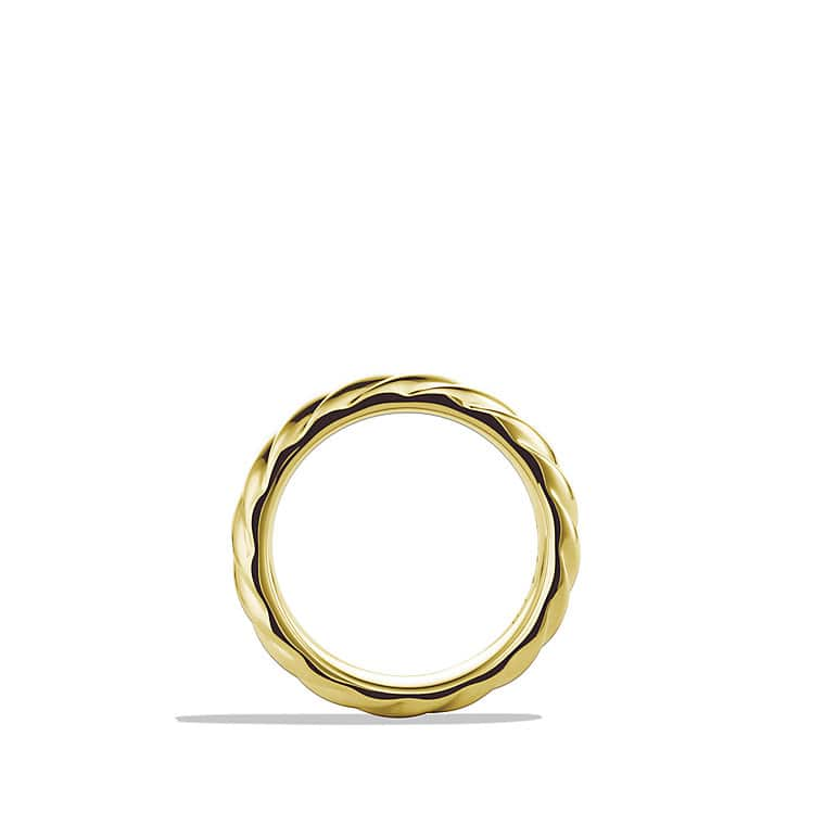 Cable Classics Wide Band Ring in Gold