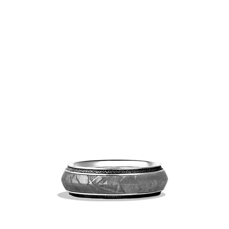 Meteorite Knife-Edge Band Ring