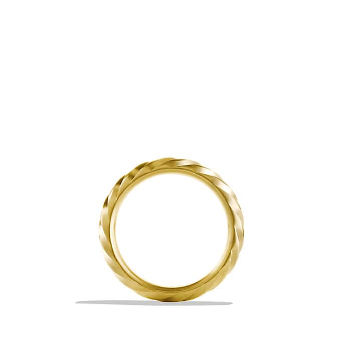 Modern Cable Band Ring in Gold