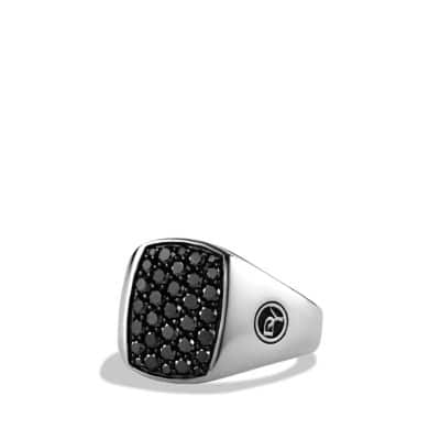 Pavé Pinky Ring with Black Diamonds