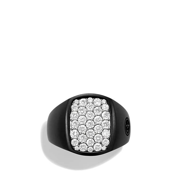 Pavé Pinky Ring with Diamonds