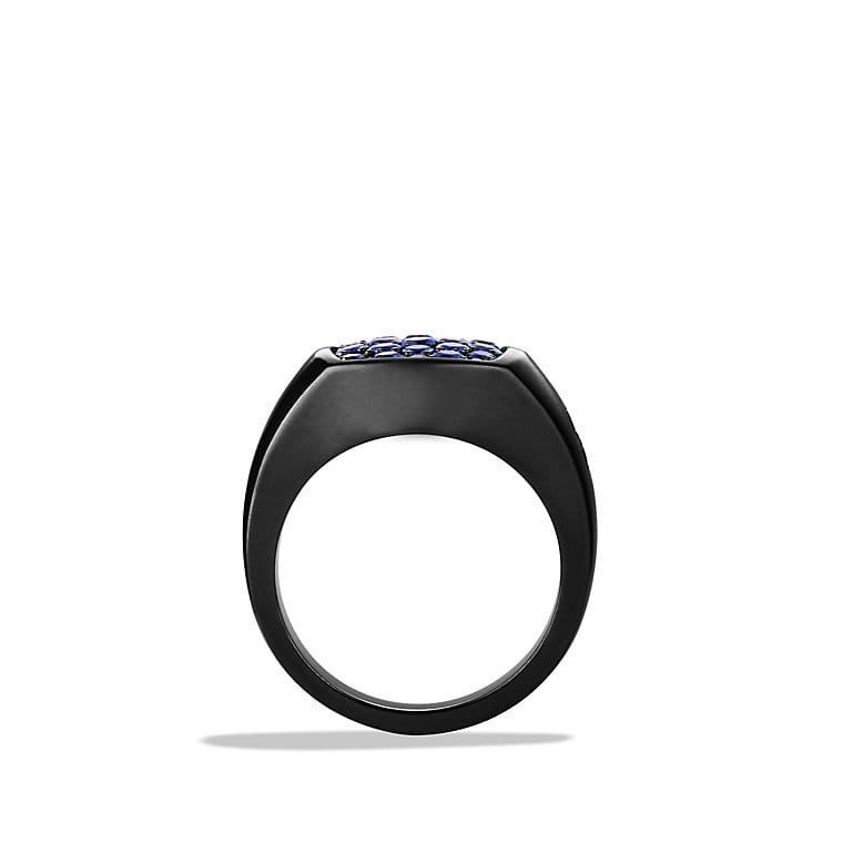 Pavé Pinky Ring with Sapphires