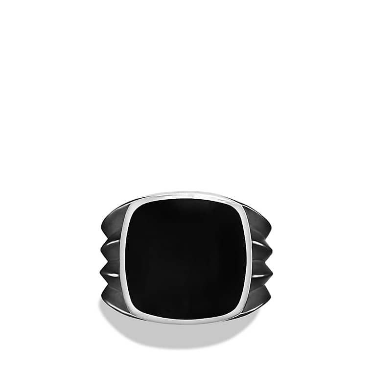 Knife-Edge Signet Ring with Black Onyx