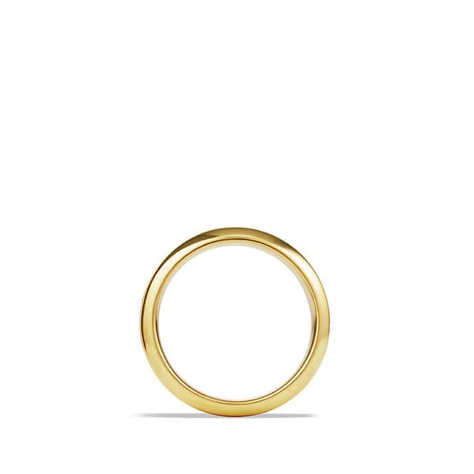 Royal Cord Knife-Edge Band Ring in Gold