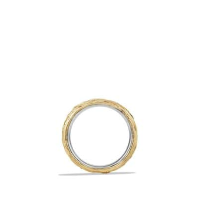 Band Ring with 18K Gold and Black Diamonds