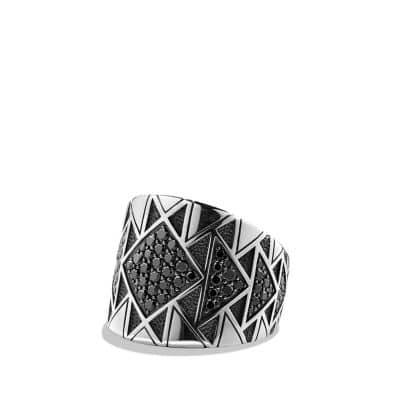 Southwest Ring with Black Diamonds