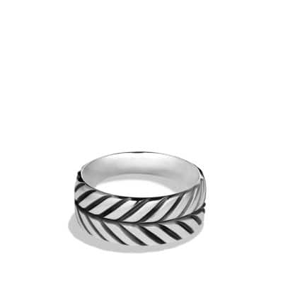 Modern Chevron Band Ring
