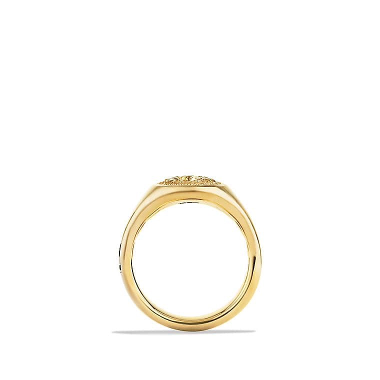 petrvs bee signet ring in 18k gold