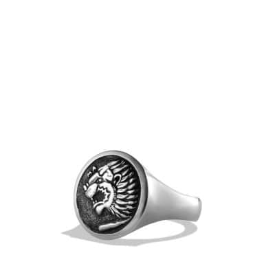 Petrvs Lion Signet Ring