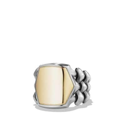 Armory Signet Ring with 18K Gold