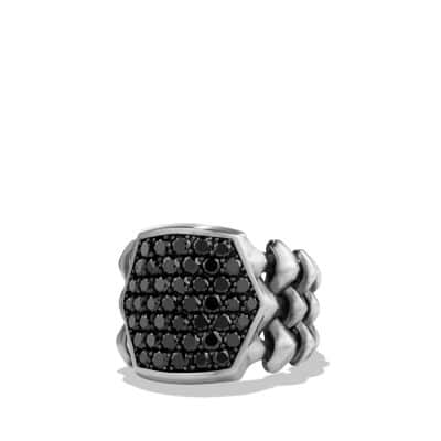 Armory Signet Ring with Black Diamonds
