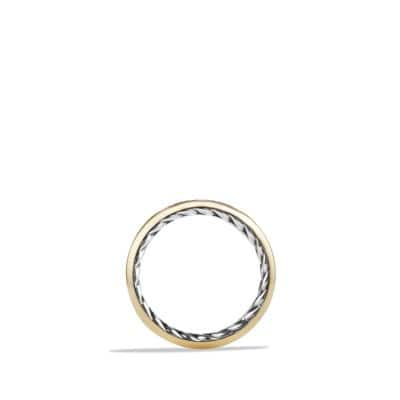 Streamline Band Ring with 18K Gold