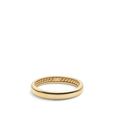 DY Eden Narrow Band Ring in 18K Gold, 4mm