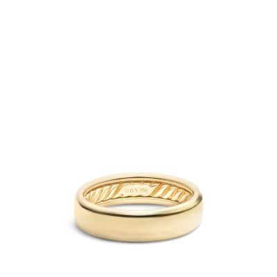 DY Eden Band Ring in 18K Gold, 6mm