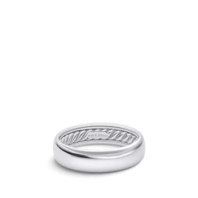 DY Eden Band Ring in Platinum, 6mm