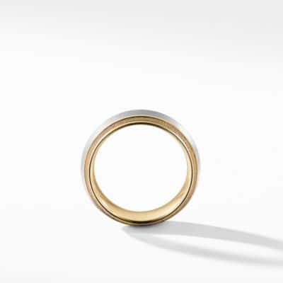 Band Ring in 18K Gold with Platinum