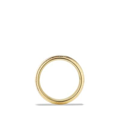 Knife Edge Band Ring in 18K Gold, 10mm