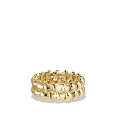 Armory Band Ring in 18K Gold