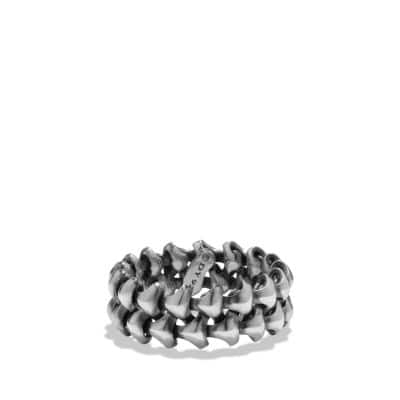 Armory Band Ring in Sterling Silver, 9mm