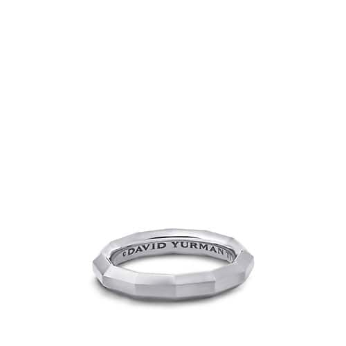 DY Delaunay Narrow Band Ring in Gray Titanium, 4mm