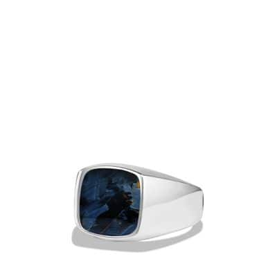 Exotic Stone Ring with Pietersite in Silver, 12mm
