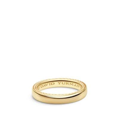Streamline Band Ring in 18K Gold, 4mm